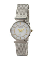 Ladies Steel Mesh Bank Tu-tone Dial