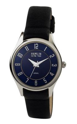 Ladies Black Leather Blue Dial 1 (HAML0303:011)